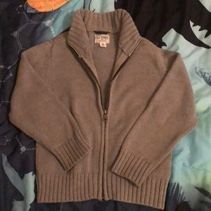 Boys Grey full zip sweater
